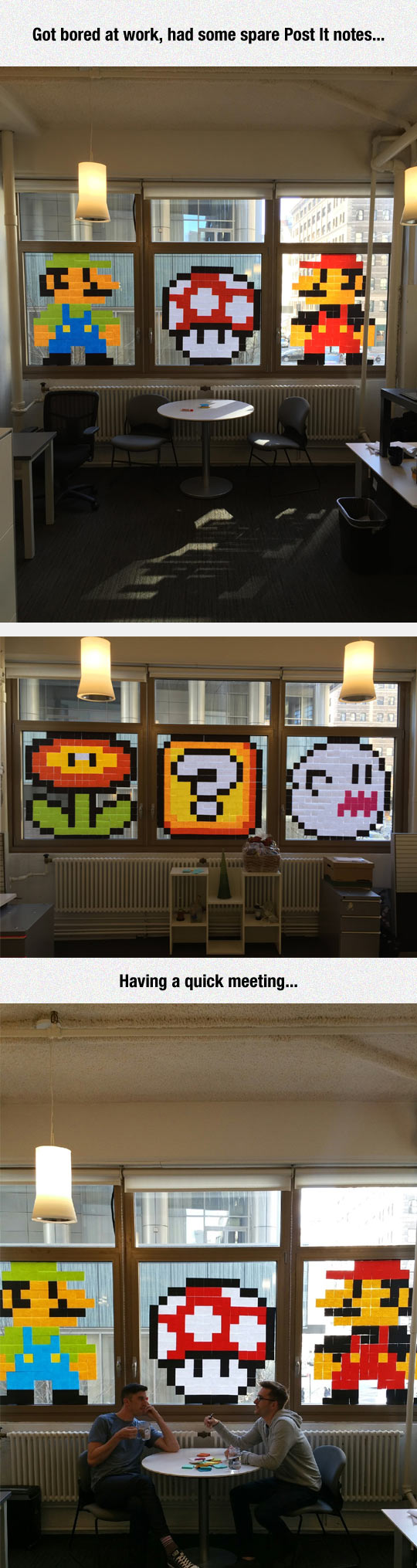 funny-Post-It-Mario-art-work-office