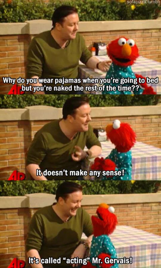 Elmo Teaches Ricky Gervais A Lesson