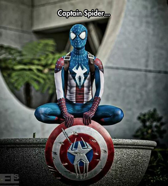 funny-Spiderman-Captain-America-cosplay