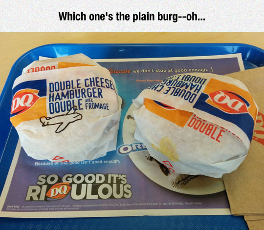 Which Is My Burger?