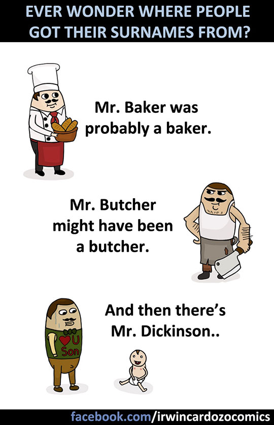 funny-cartoon-surnames-butcher-baker-baby
