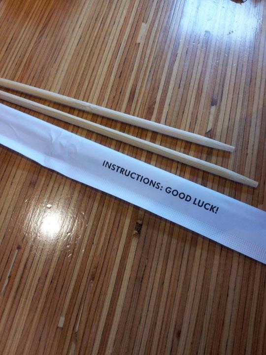 On A Pack Of Chopsticks