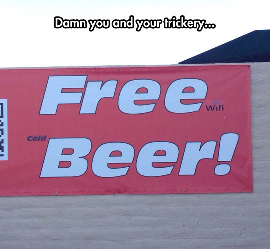 funny-free-beer-sign-cold-Wi-Fi