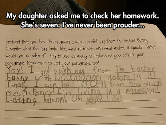This Kid Is Going To Be An Amazing Writer Someday