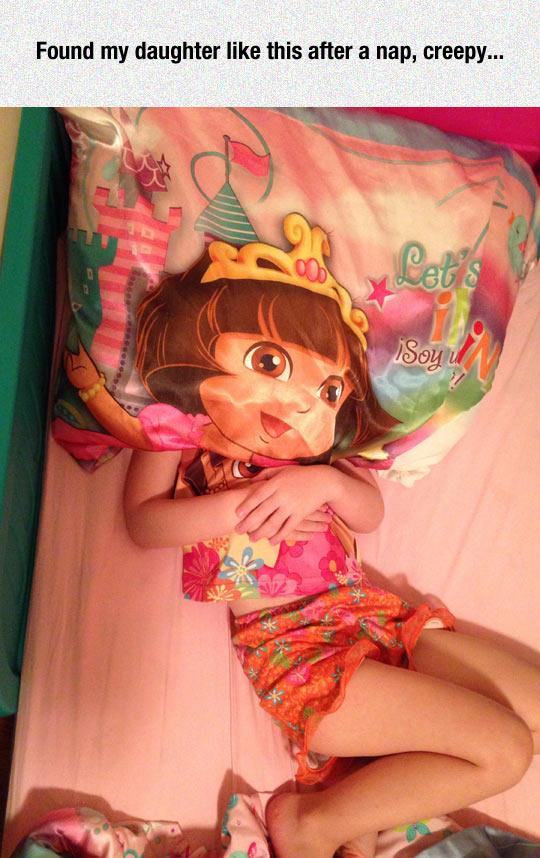 funny-little-girl-sleeping-Dora-face