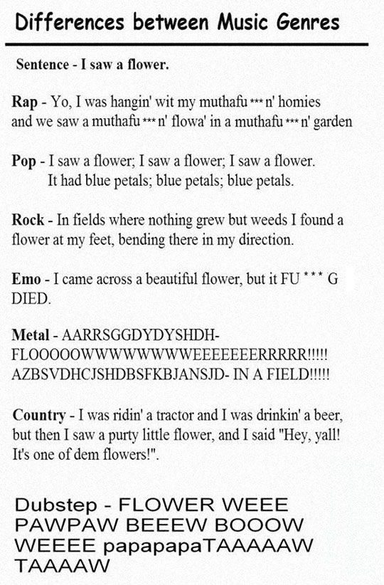 funny-music-genre-differences-song