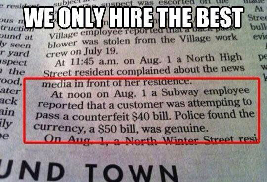 Subway Employee Intelligence