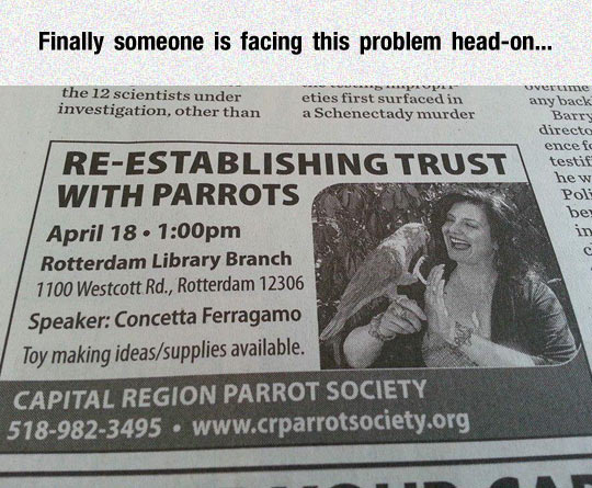 funny-newspaper-ad-parrots-trust