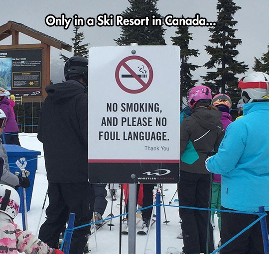Canadian Warning Sign