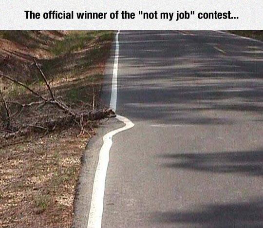Not My Job Winner
