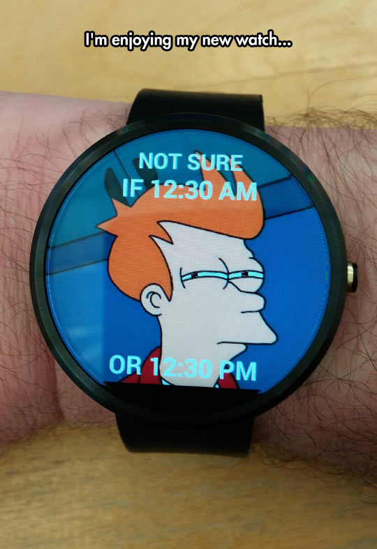 Enjoying My New Watch
