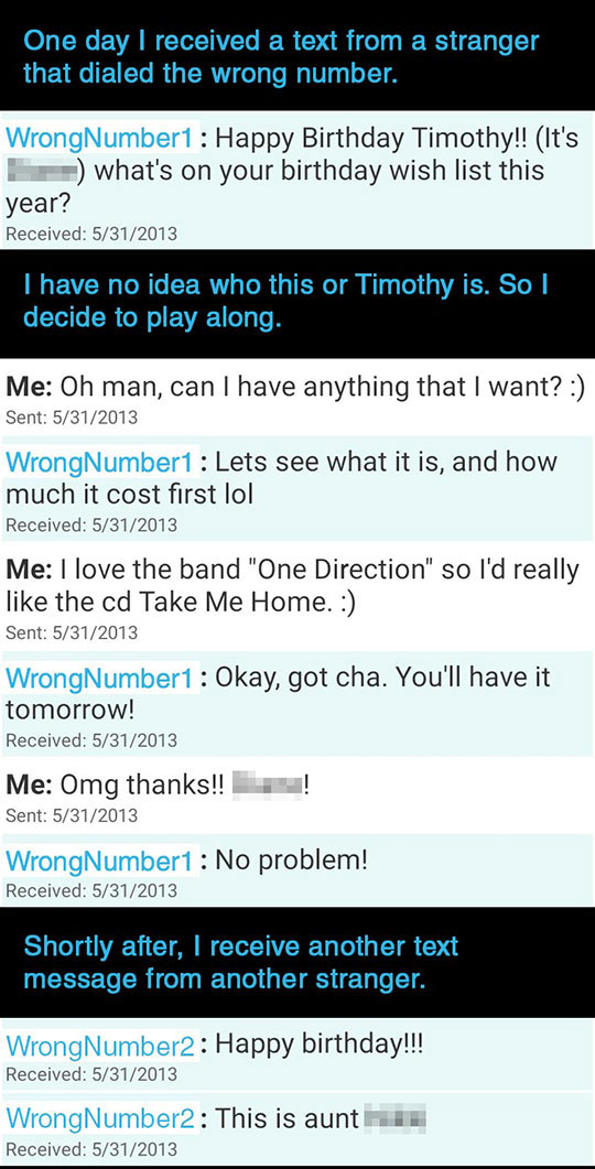 Wrong Number One Direction Birthday Prank