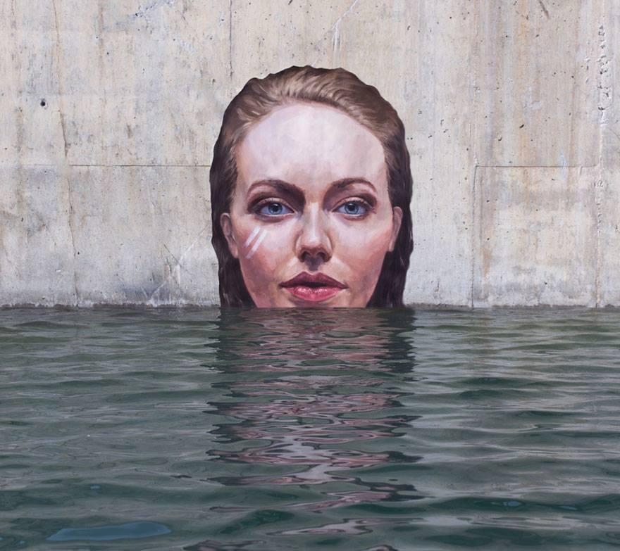 Street art on quarry walls.8