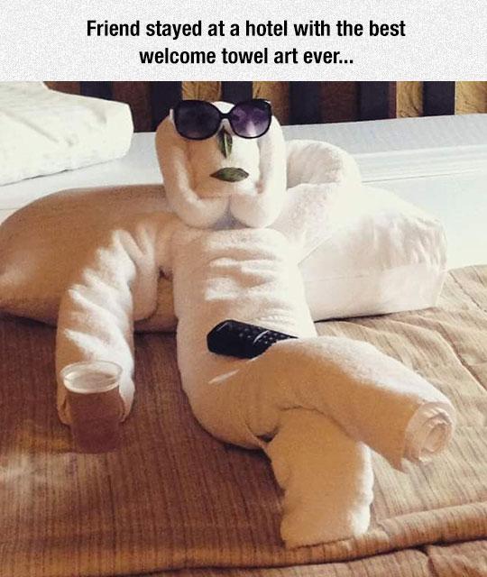 Welcome Towel Art