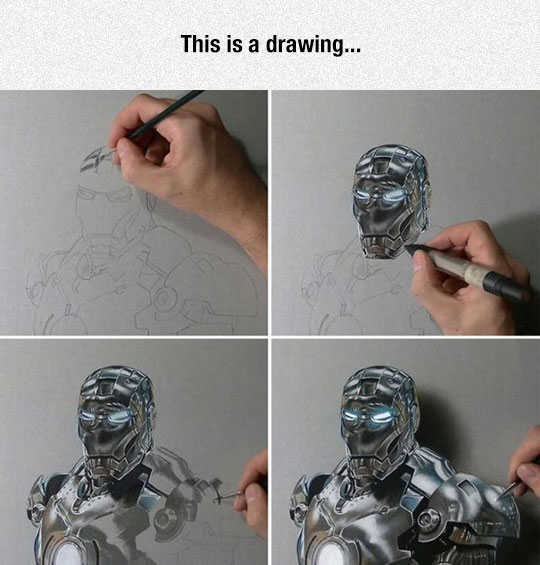 Iron-Man Realistic Drawing
