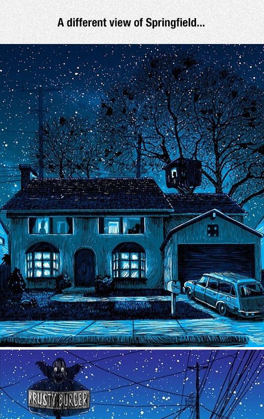 Simpsons Night Atmosphere