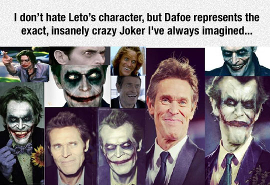 Dafoe Has The Look And The Talent