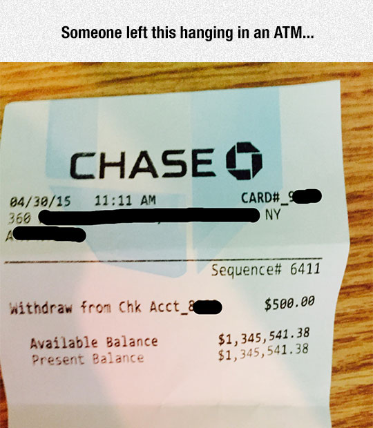 Millionaires Also Use The ATM