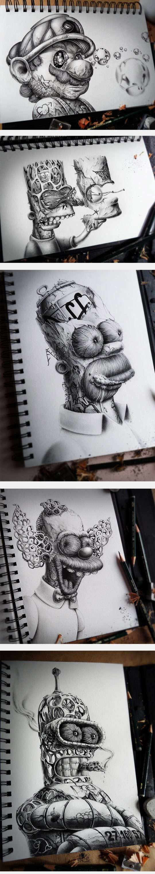 Amazing Sketches Of Famous Characters
