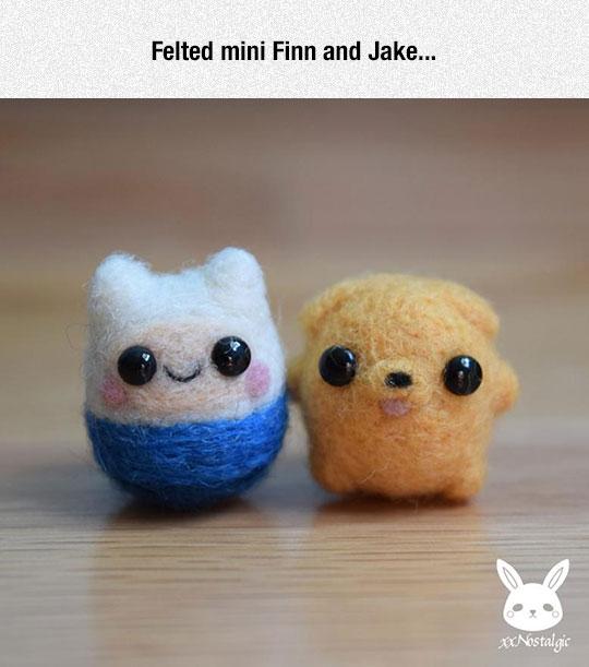 cute-felt-Jake-Finn-Adventure-Time
