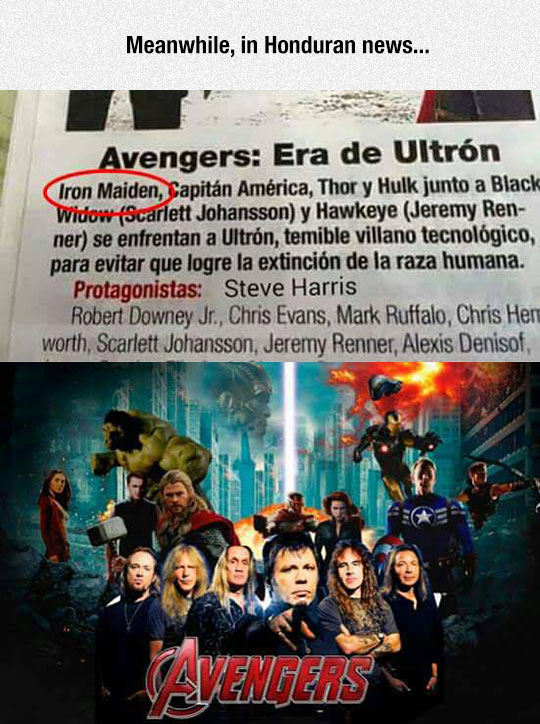 funny-Avengers-newspaper-misspell-Iron-Maiden