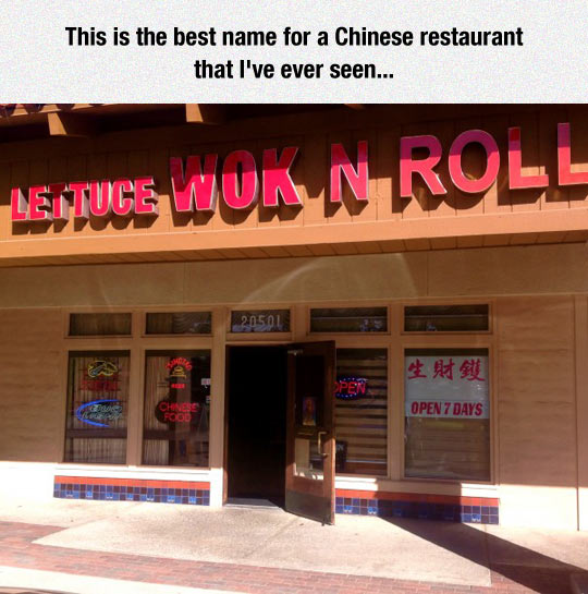 Clever Chinese Restaurant Names