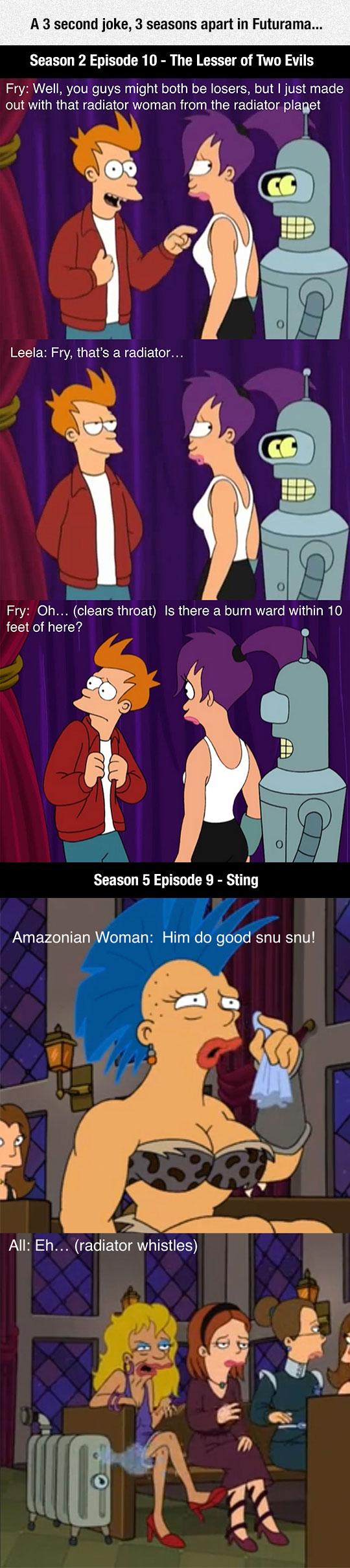 funny-Futurama-radiator-Fry-couple