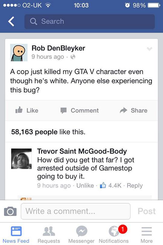 A New GTA Bug
