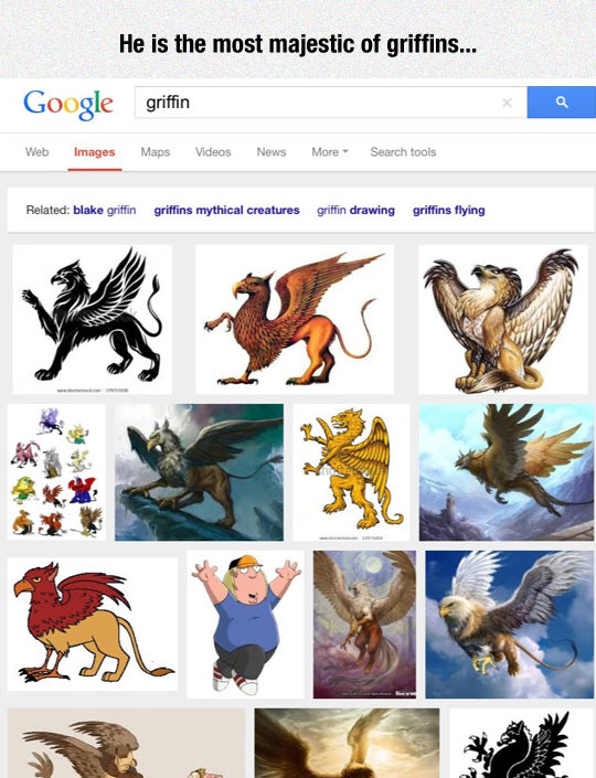 Searching For Griffin On Google
