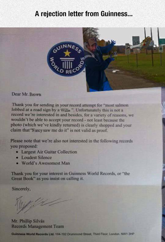 funny-Guinness-records-letter-salmon-rejection
