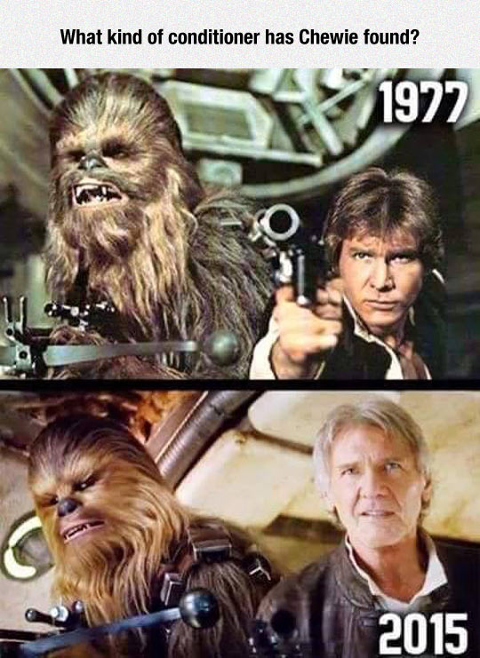 Han Solo And Chewie, Now And Then