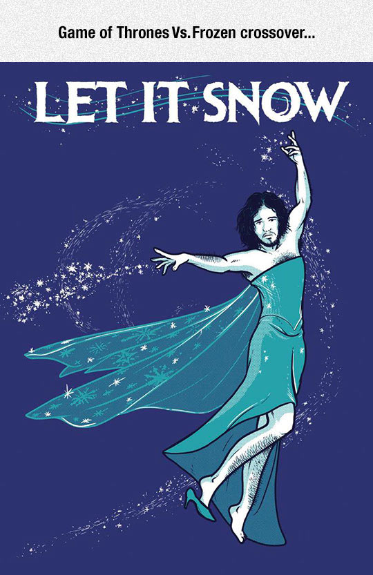 funny-Jon-Snow-Frozen-crossover-dress