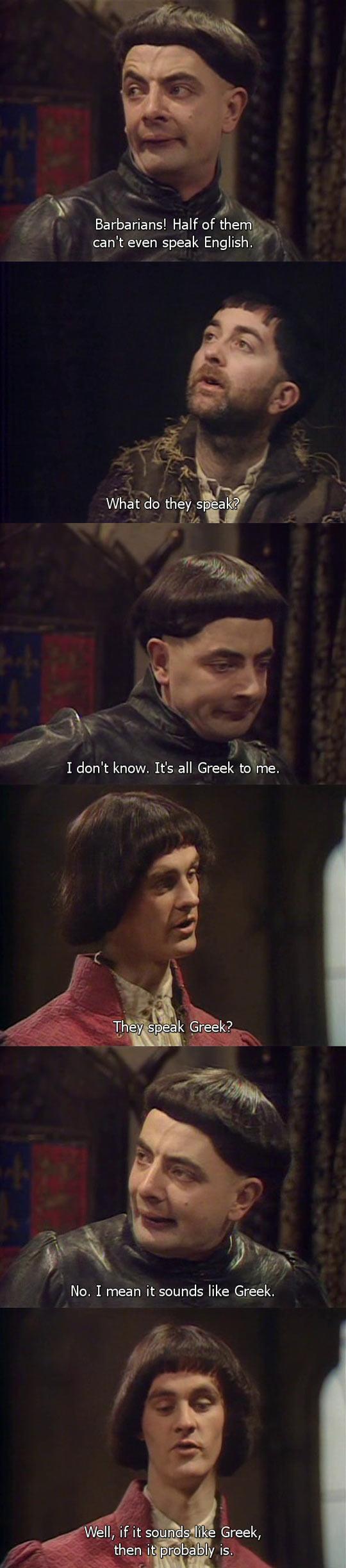 funny-Rowan-Atkinson-Barbarians-speaking