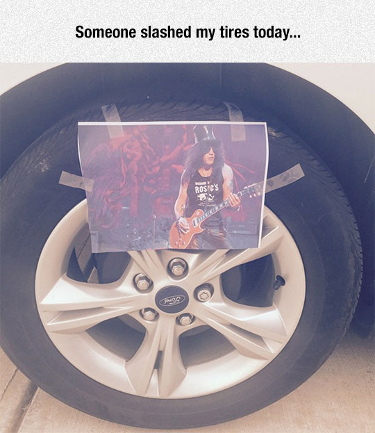 Oh No, My Tires
