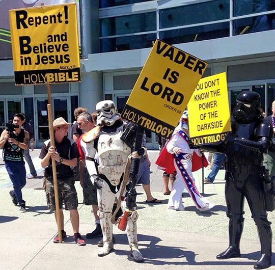 funny-Stormtrooper-Holy-Trilogy-sign-protest