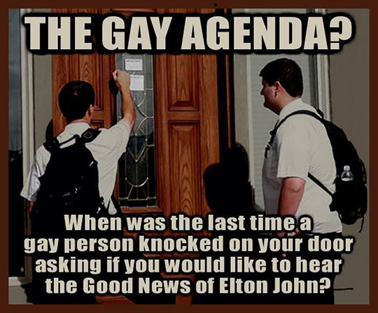 Gay Agenda Worshipers