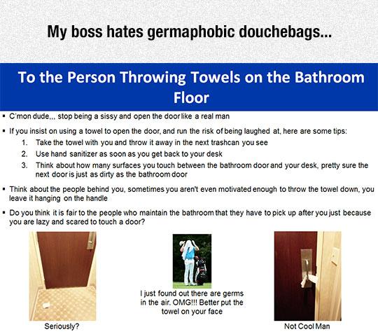 Germaphobic People