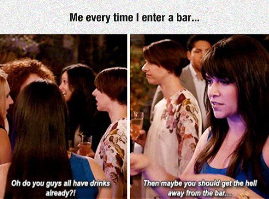 Whenever I Enter A Bar