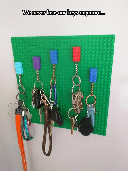 The Lego Key Holder