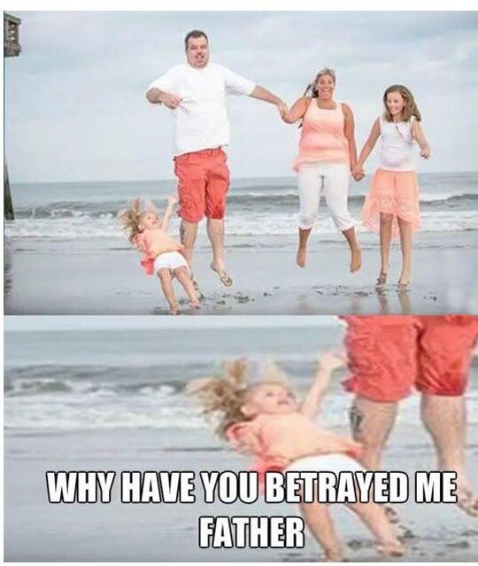 funny-kid-girl-falling-sea-father-jump