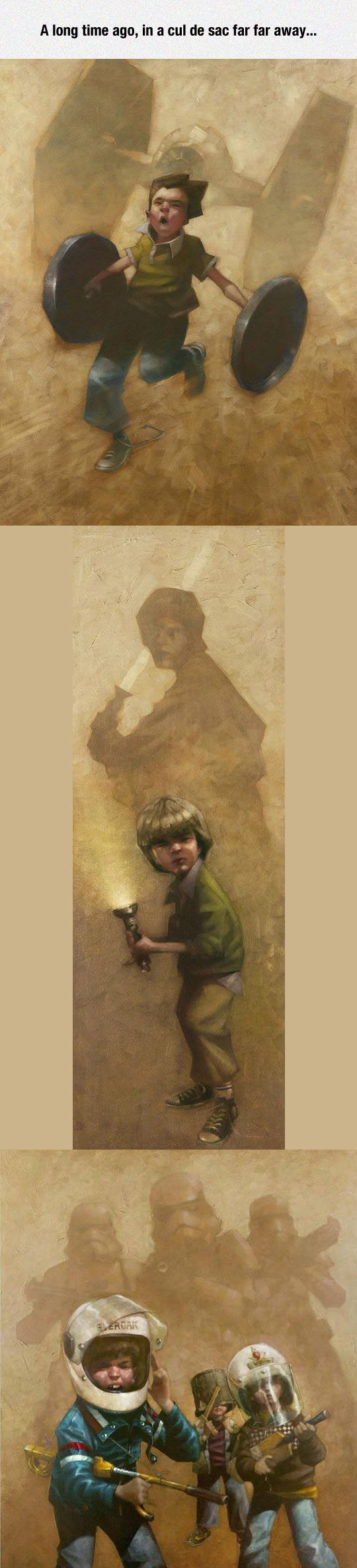 Star Wars Childhood, Really Captures The Spirit Of Imagination