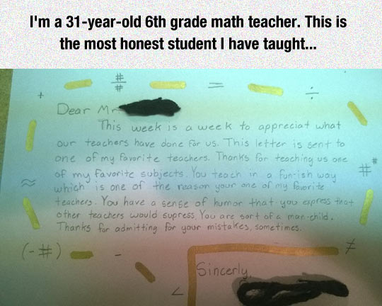 An Honest Letter From A Student