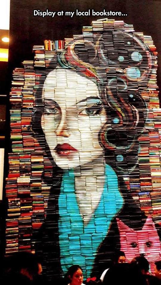 Painting Made With Books