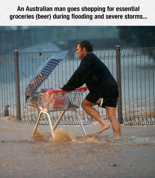 funny-man-shopping-beer-flood