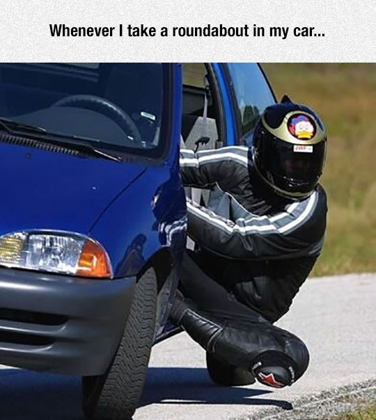 funny-motorcycle-riding-car-knee