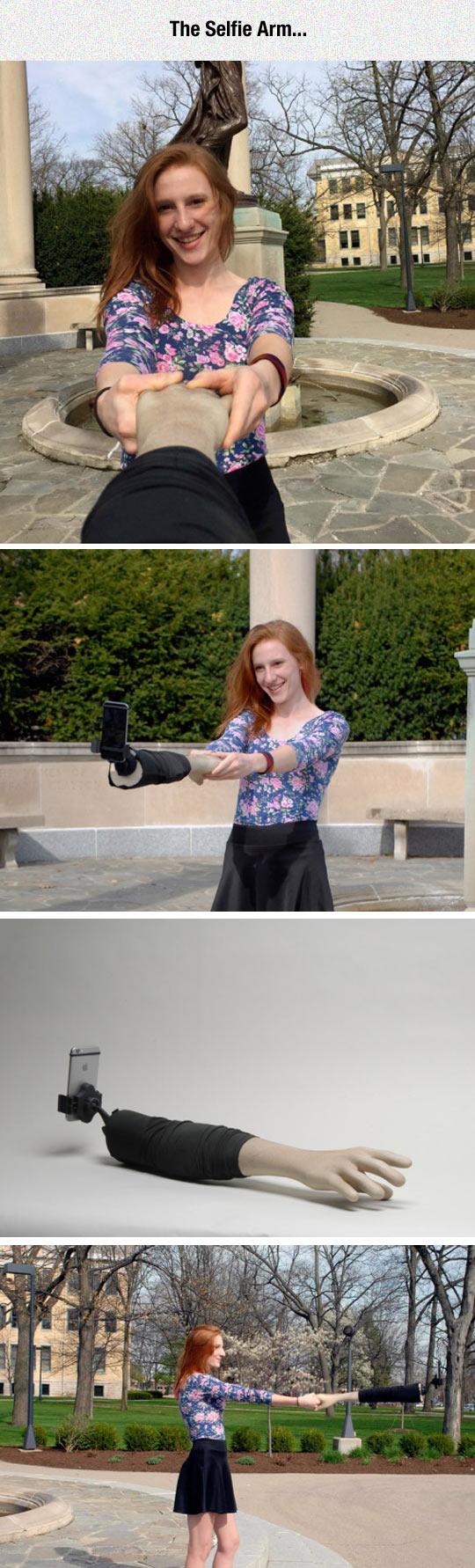 funny-selfie-arm-girl-alone