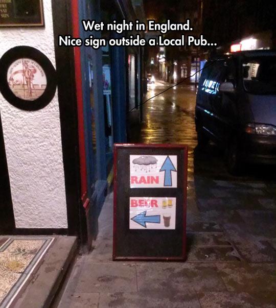 funny-sign-beer-pub-rain-inside