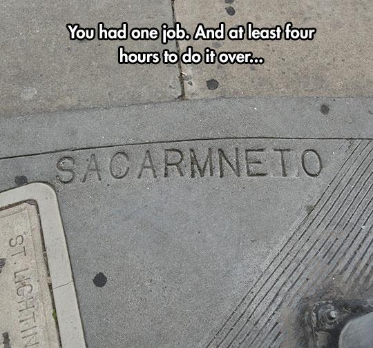He Had One Job