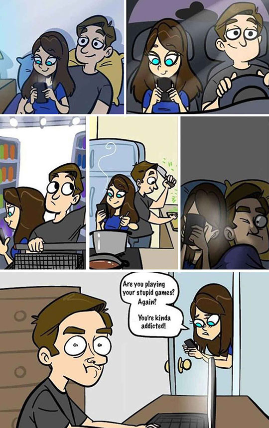 funny-webcomic-girlfriend-phone-videogames