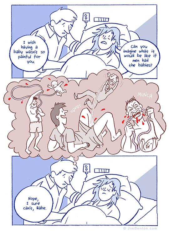 funny-webcomic-pregnant-woman-birth-men